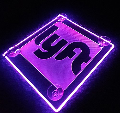 Lyft Acrylic Logo Neon Sign Rideshare Car Sign AA batteries HELPING THE ENVIRONMENT! AVAILABLE IN 4 COLORS (Pink)