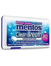 Mentos Clean Breath - Peppermint - 30 Mints, 12 Count