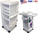 N20E-Prime Aesthetician Roll-about Cart Trolley White NON lockable made in USA by Dina Meri