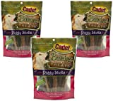 (3 Pack) Cadet Piggy Sticks Dog Treats, 6 Ounces each
