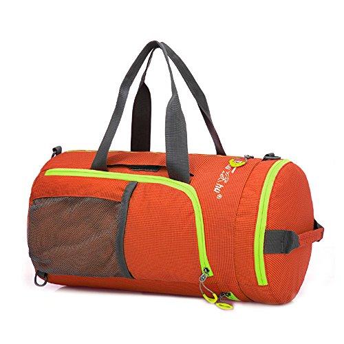 Wildken Gym Bag Waterproof Nylon Foldable Lightweight Weekend Backpack for Women or Men (Shoes Plain Jordan Black)