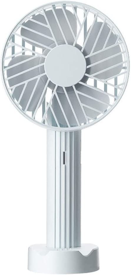 Color : White Air Cooler Handheld Mini Desktop Fan Outdoor Portable USB Fan Adjustable Angle Mobile Phone Bracket Personal Fan