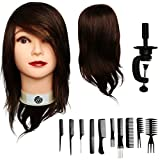 """100% Human Hair Mannequin Head 12"""" by Aestus Fashions 