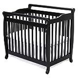 DaVinci Emily 2-in-1 Mini Crib and Twin Bed in Ebony Finish