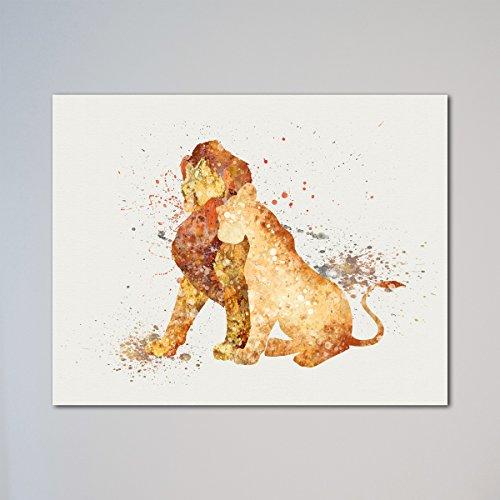 """The Lion King Simba and Nala 11"""" x 14"""" Print"""