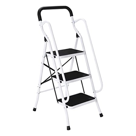 Admirable Ukhomegarden Folding Ladder 3 Step Ladder With Safety Gmtry Best Dining Table And Chair Ideas Images Gmtryco