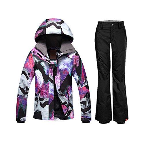 Tuta A Leit Donne Yff Da Inverno Neve Caldo Pantaloni Snowboard In Le E Giacche Sci 1 a4xFwqX4