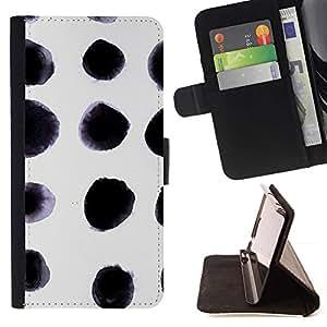 Momo Phone Case / Flip Funda de Cuero Case Cover - Splash Negro Arte Aleatorio - Samsung Galaxy S6