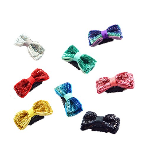 PET SHOW Small Pet Topknot Dogs Hair Bows with Clips for Short Hair Pets Costumes Dog Fur Accessories Assorted Colors Pack of 10