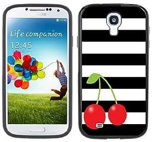 Cherries Cherry Stripes Samsung Galaxy S4 Black Bumper Hard Plastic Case lifeproofase iphone case phoneharger