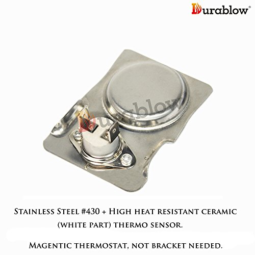 Durablow Stainless Steel Magnetic Ceramic Thermostat Switch for Fireplace Stove Blower Fan Kit Thermo Control - Stove Blower Kit