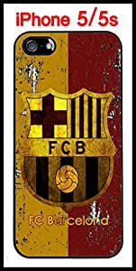 FCB FC Barcelona Soccer iPhone 5 5s Case Hard Silicone Case