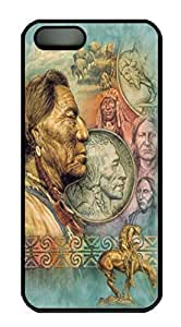 Covers Five Cent Peace Native American Custom PC Hard Case Cover for iPhone 5/5S Black by lolosakes