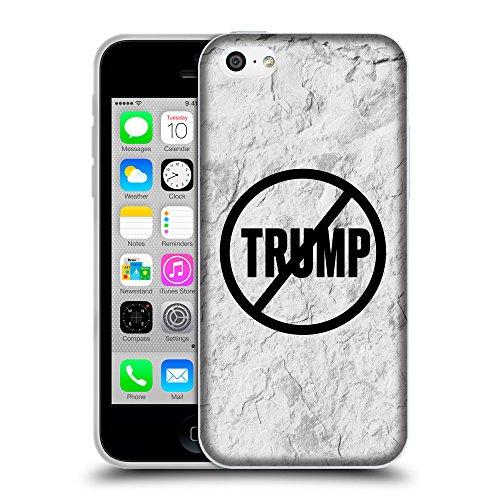 Super Galaxy Coque de Protection TPU Silicone Case pour // Q04110504 Never Trump mur de pierre // Apple iPhone 5C