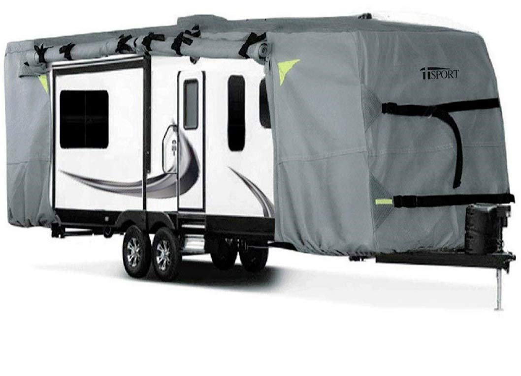 iiSPORT Y5002501-22-24 Grey Fits 22' to 24' RVs Travel Trailer Cover
