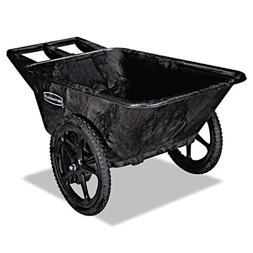 Rubbermaid Cart Wheel Big (Rubbermaid 5642BLA Big Wheel Agriculture Cart, 300-lb Cap, 32-3/4 x 58 x 28-1/4, Black)