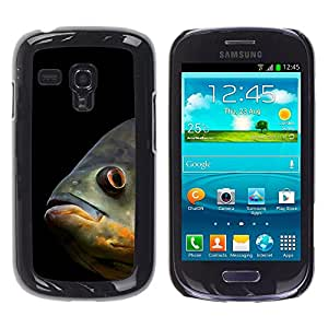 Qstar Arte & diseño plástico duro Fundas Cover Cubre Hard Case Cover para Samsung Galaxy S3 III MINI (NOT REGULAR!) / I8190 / I8190N ( Fish Sea Underwater Scuba Diving Black)