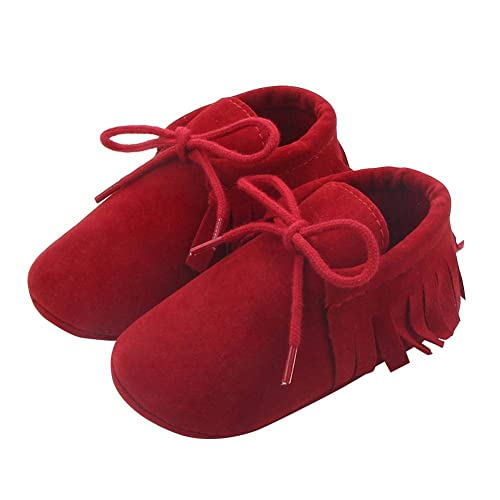 Baby Boys Girl PU Leather Moccasins Tassel Soft Sole Non-slip Shoes First Walker