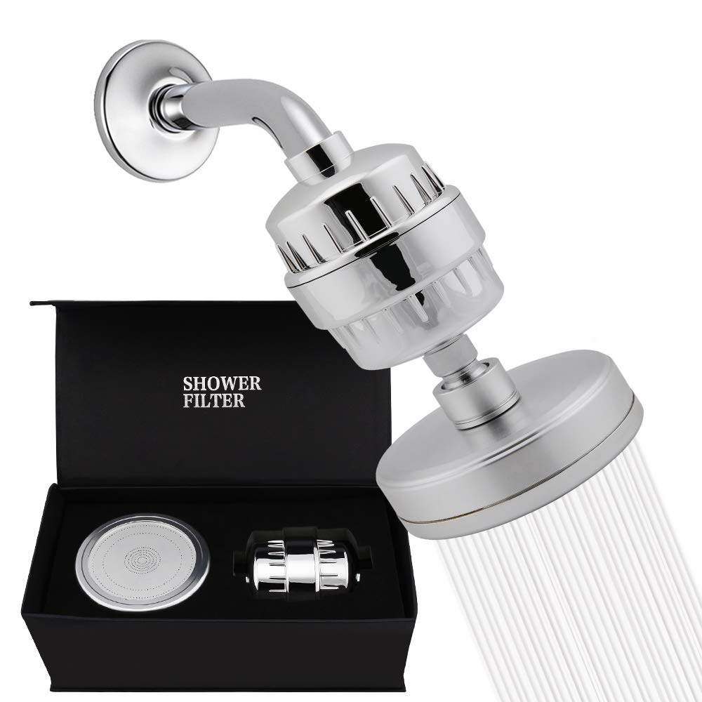 Neady Filtered Shower Head Set (Metal) Cartridge Vitamin C + 15 Stage Shower Water Filter to Remove Chlorine And Fluoride