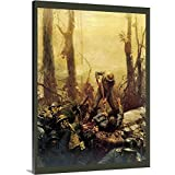 """Vintage Apple Collection Premium Thick-Wrap Canvas Wall Art Print entitled Forest Marines - Vintage Marines Poster 18""""x24"""""""