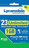 Lycamobile $23 Plan 1st Month Included SIM Card is Triple Cut Unlimited Natl Talk & Text to US and 60+ Countries 1GB Of 4G LTE