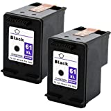 Remanufactured Ink Cartridge Replacement for HP 61xl (2 Black) 2 Pack
