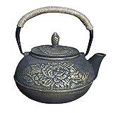 Cast Iron Tea Kettle. Fireplace humidifier Wood Stove Humidifier Gold Peony