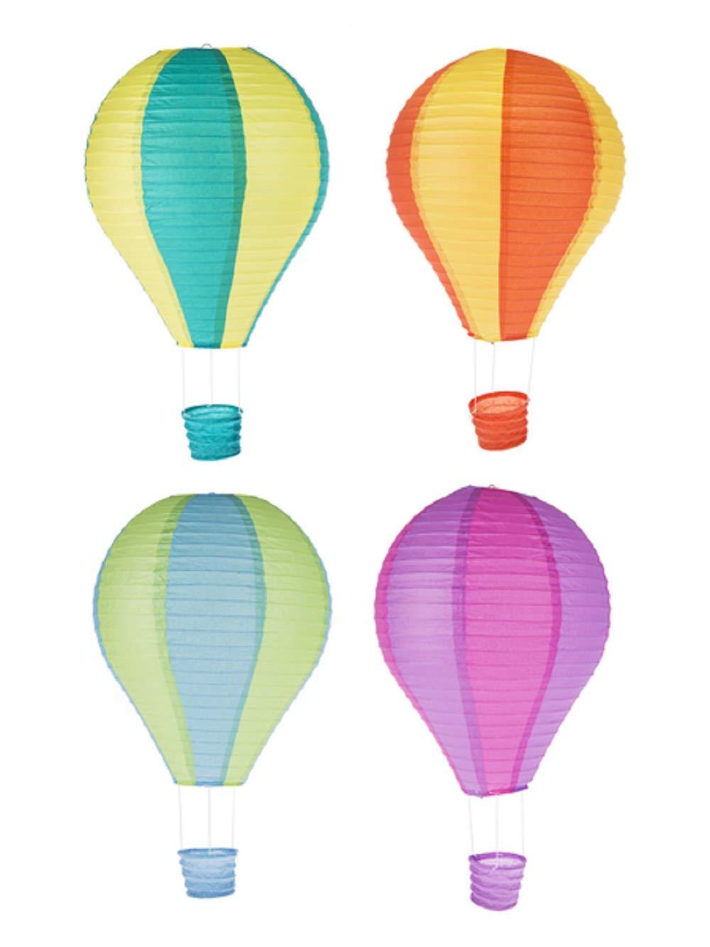 Ganz Hot Air Balloons Paper Lanterns Set of 4 Assorted