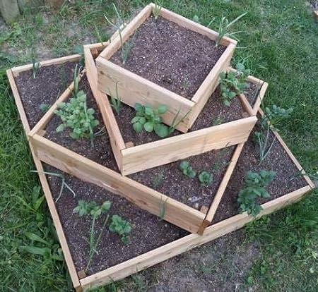 bio-garten - Jardinera Alta piramidal para Patatas, Hierbas y ...