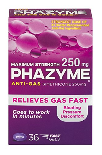 Phazyme Maximum Strength Gas and Bloating Relief  | 250 mg | 36 FAST GELS