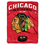 "Officially Licensed NHL Inspired Plush Raschel Throw, 60"" x 80"""