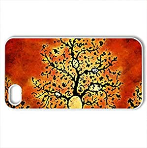 Maze Tree - Case Cover for iPhone 4 and 4s (Watercolor style, White)