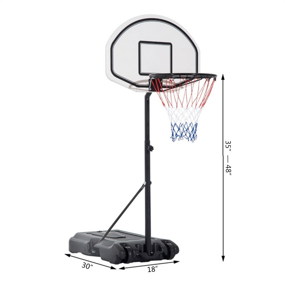 Rapesee Poolside Basketball System Height Adjustable Portable Pool Side Basketball System