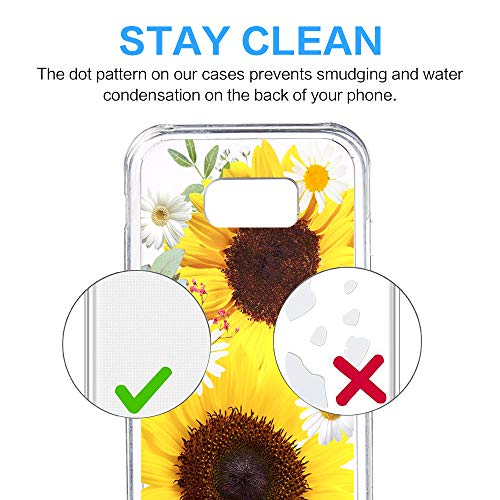 Galaxy Pacyer Tui Anti Cover Dcoration Coque Et TPU Transparent Fleur 1 Scratch Housse Absorption