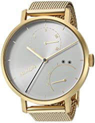 Nixon Womens Clutch Quartz Stainless Steel Casual Watch, Color:Gold-Toned (Model: A1166504-00)