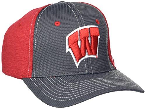 Zephyr NCAA Wisconsin Badgers Adult Men Grid Cap, X-Large, Gray/Team Color