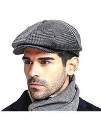 Men s Newsboy Gatsby Hat Vintage Beret Flat Ivy Cabbie Driving Hunting Cap  for Boyfriend Gift 64c959dbcb0