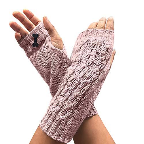 Aiopr Winter Warm Knit Fingerless Thumbhole Crochet Arm Warmers