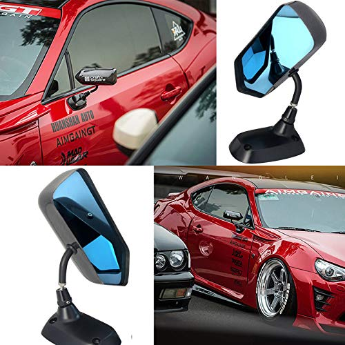 Black Manual DTM Style Mirrors /& Base Plates fits BMW E46 4 Door Models