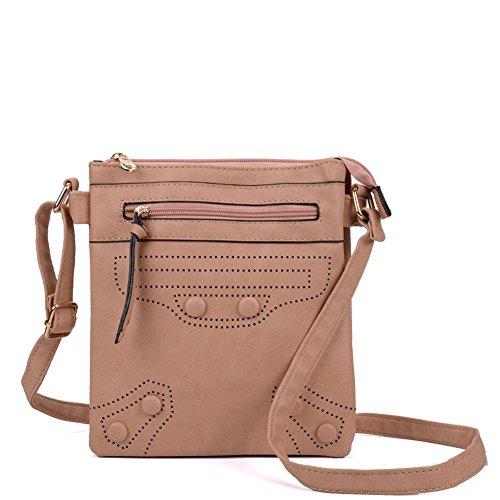 SALLY YOUNG Fashion Women High Quality PU Leather Cross Body Bag Nice Bags Apricot