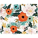 ITNRSIIET Mouse Pad, Orange Flowers Pattern Design Mousepad. Customized Gaming Mousepads for Laptop and Computer. Cute Design Desk Accessories. Non-Slip, Stitched Edges, Waterproof