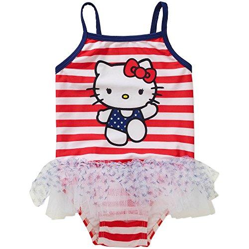 Hello Kitty Baby Girls Americana 1-Piece Swimsuit 3T