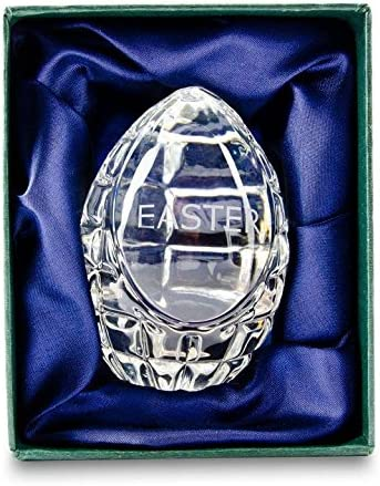 BestPysanky Crystal Engraved Glass Easter Egg 3 Inches ce-05