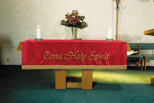 Christian Brands Church Supply VC746 Custom Altar Frontal - Red by Christian Brands Church Supply