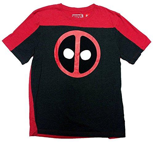 Marvel Deadpool Logo Two Tone Men's T-Shirt (XXL, Red)