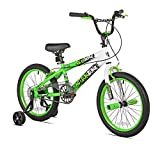 KENT Boys Action Zone Bike, 18', Green/Yellow/White