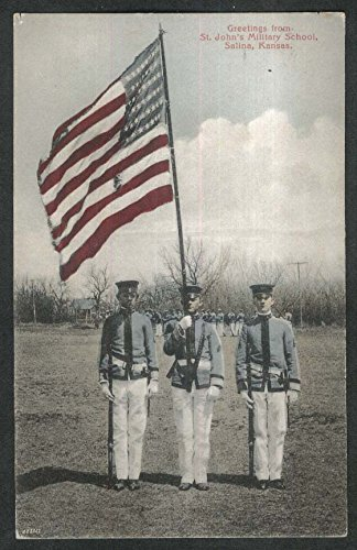 Greetings from St John's Military School Salina KS postcard 1909 from The Jumping Frog