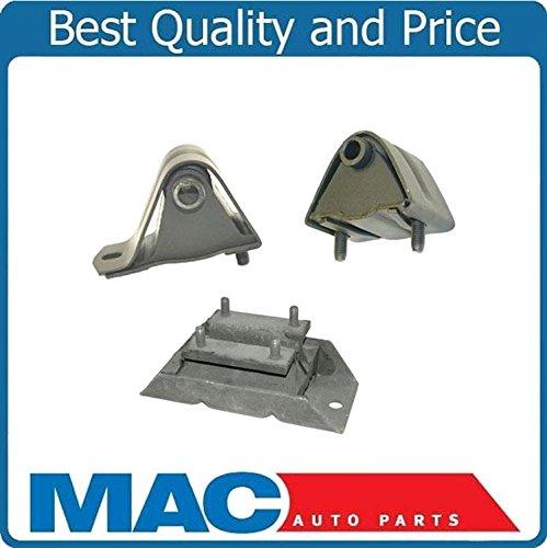 Mount Kit Shock Engine (Mac Auto Parts 41647 Wrangler 2.5L 3Pc Engine Motor Mount kit A2569 A29 A2628)