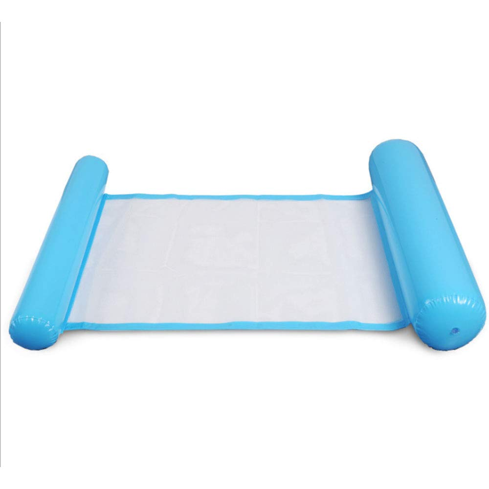 ZR Silla Flotante Inflable Plegable Cama Plegable,Blue