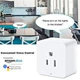 POTENCO Smart Socket Smart US Plug Wifi Outlet Mini Socket Compatible with Alexa and Google Home with Timer Function